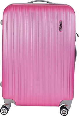 InUSA Houston Collection Pink lightweight ABS 23.4 inch Luggage (IUHOU00M-PNK)