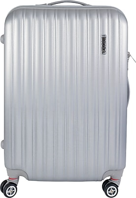 InUSA Houston Collection Silver lightweight ABS 23.4 inch Luggage (IUHOU00M-SIL)