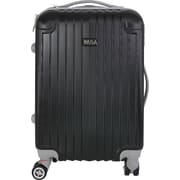InUSA Los Angeles Collection Black Lightweight ABS 19.1 inch Carry-On Luggage