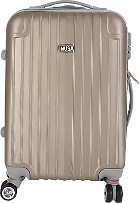 InUSA Los Angeles Collection Champagne lightweight ABS 19.1 inch Carry-On Luggage (IULAX00S-CHA)