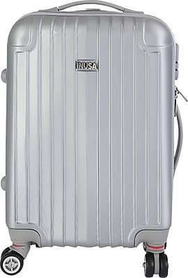 InUSA Los Angeles Collection Silver Lightweight ABS 19.1 inch Carry-On Luggage