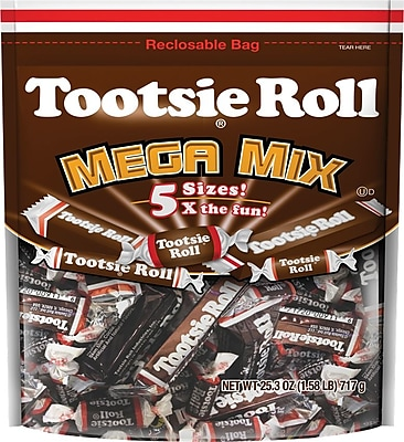 Tootsie Roll® Candy, 25.3 oz. Resealable Bag