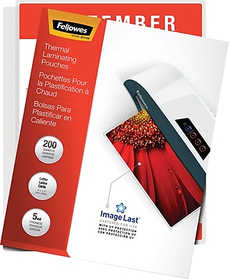 Fellowes® Laminating Pouches - Letter, ImageLast, 5mil, 200 pack