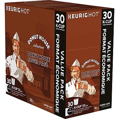Donut House – Collection Café, recharges K-Cup, régulières, paq./30