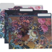 Cynthia Rowley Fashion File Folders, 3 Tab, Assorted Floral Print