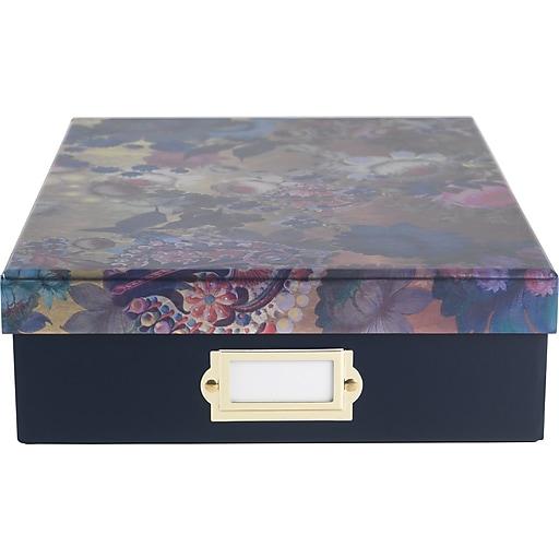 Cynthia Rowley Document Box, Gilded Gold Floral