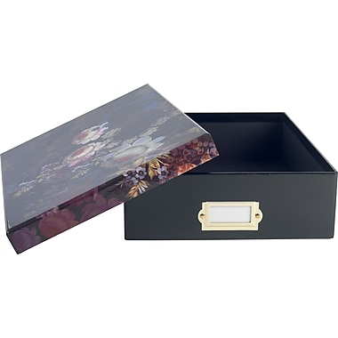 Cynthia Rowley Document Box, Cosmic Black Floral