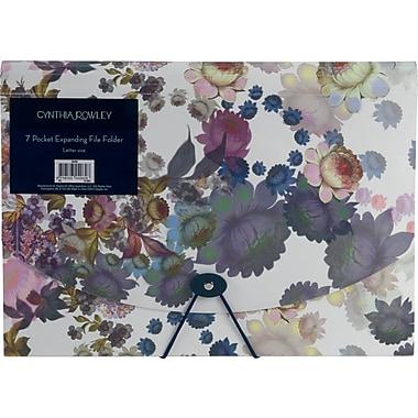 Cynthia Rowley 7-pocket expanding file, Cosmic White Floral