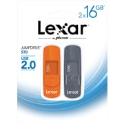Lexar Jumpdrive S70 16GB USB 2.0 flash drive 2 pack