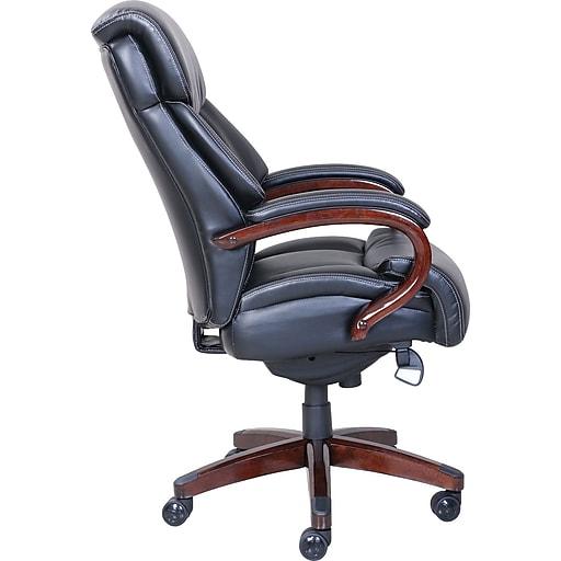 La Z Boy Bradley Leather Executive Office Chair Fixed