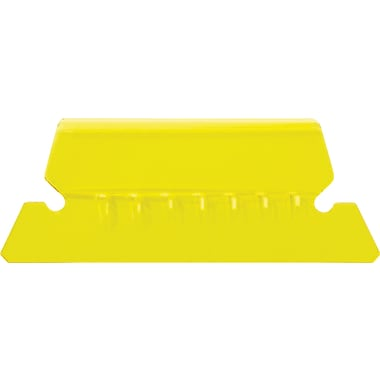 Staples® Plastic Tabs, Yellow, 2