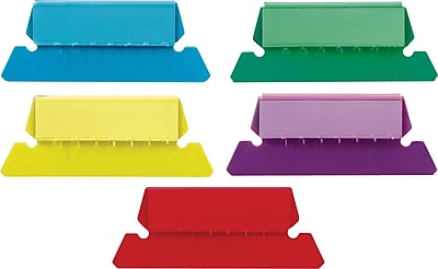 Staples® Plastic Assorted Tabs, 50/Pack
