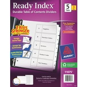 Avery(R) Ready Index(R) Table of Contents Dividers for Laser & Ink Jet Printers 11075