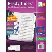 Avery(R) Ready Index(R) Table of Contents Dividers 11076, 8-Tab, 3 Sets