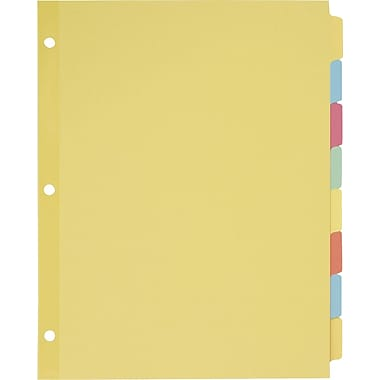 Avery(R) Plain Tab Write-On Dividers 11509, 8-Tab, 24 Sets