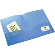 Avery(R) Translucent Two-Pocket Folder 47811, Blue