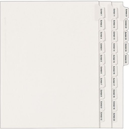 avery r collated legal dividers allstate r style 82106 letter