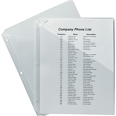 Avery® Ring Binder Pockets for 11 x 8-1/2 Sheets, Clear Polypropylene, 5 Per Pack