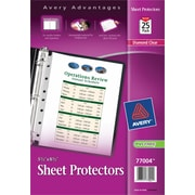 "Avery(R) Mini Diamond Clear Heavyweight Sheet Protectors 77004, 5-1/2"" x 8-1/2"", Acid-Free, Bag of 25"