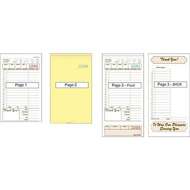 Alliance T4997-3SP, 3part, Carbonless, Tan, 15 Line, Guest Checks, Case of 2000