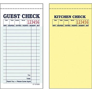 Alliance G7000, 2part, Carbonless, Green, 17 Line, Guest Checks, 50 Checks per Book, 50 Books/Ctn
