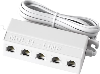 GE 5-Jack Phone Line Splitter (White)