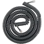 GE Cord Management, GE Telephone Coil Cord, 25ft, Black