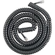 Power Gear 27639 12' Coiled Telephone Line Cord, Black