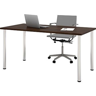 bestar 59.25'' Rectangular Training Table, Chocolate (65862-69)