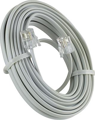 GE 15' Line Phone Cord (White)