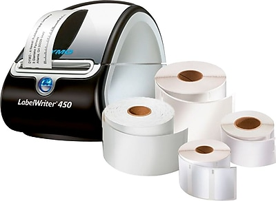 DYMO LabelWriter® 450 Label Printer and Label Rolls Value Bundle Pack, Up To 2 1/8-Inch x 4-Inch Labels