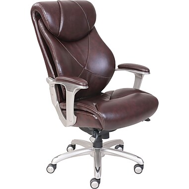 la-z-boy cantania leather executive office chair, adjustable arms