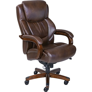 La Z Boy Delano Big and Tall fortCore Traditions Executive fice Chair Chestnut