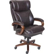 La-Z-Boy Trafford Big and Tall ComfortCore Traditions AIR Technology Executive Office Chair - Vino (Brown)