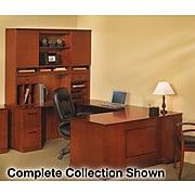 Safco Sorrento Collection in Bourbon Cherry, Optional Hutch Organizers, Vertical