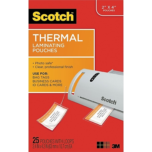 Scotch luggage tag size thermal laminating pouches 5 mil 4 15 x 2 httpsstaples 3ps7is images for scotch luggage tag size thermal laminating colourmoves