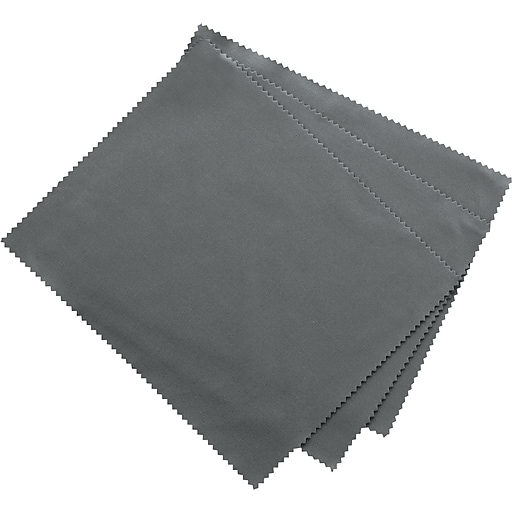 """Innovera Microfiber Cleaning Cloths, 6"""" X 7"""", Grey, 3/pack"""