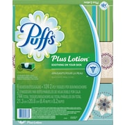 Puffs® Plus Lotion Facial Tissues, 2-Ply, 124-count, 6 Boxes/Pack (PGC 39383)