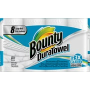 Bounty® DuraTowel Large Roll Paper Towels, 53 count, 8 Rolls/Case (PGC 84890)