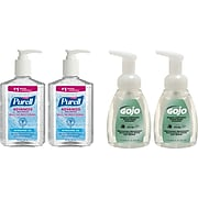 PURELL® Advanced Refreshing Gel Hand Sanitizer & Gojo® Foaming Hand Soap Combination Kit, 4/Pack