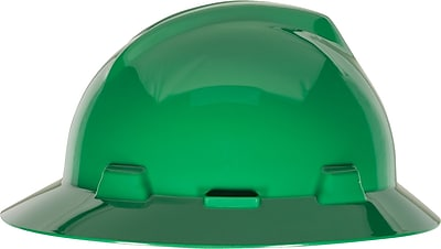 MINE SAFETY APPLIANCES CO. (MSA) Polyethylene & Plastic V-Gard Hard Hat, Green