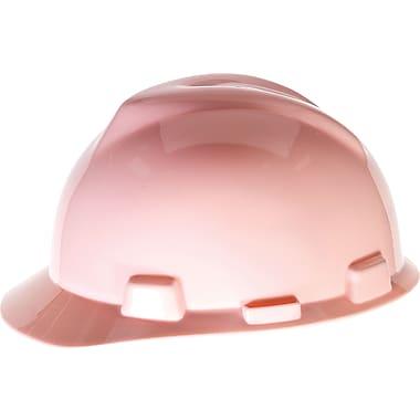MINE SAFETY APPLIANCES CO. (MSA) Polyethylene V-Gard Hard Hat with Ratchet Suspension