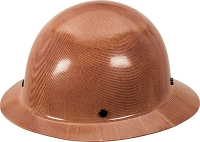 MSA Skullgard Hard Hat with Staz-On Suspension, Full Brim, Natural Tan, Each