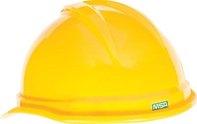 MSA V-Gard® 500 Protective Cap, 4Pt. Suspension, Yellow, Each