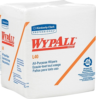 WypAll* L40 Disposable Limited Use Wipers, 56/Pack, 18 Packs /Case, (05701)