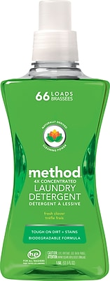 Method® 4X Concentrated HE Laundry Detergent, Fresh Clover, 53.5 oz.