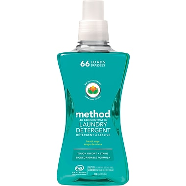 Method® 4X Concentrated HE Laundry Detergent, Beach Sage, 53.5 oz.