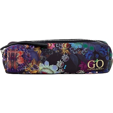 Cynthia Rowley Accessories Pouch, Cosmic Black Floral, Neoprene (28780)