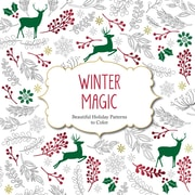 "Barron's ""Winter Magic:  Beautiful Holiday Patterns to Color"" Adult Coloring Book"