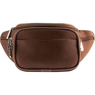 Mancini - Sac de ceinture Classic, 12 x 4 x 5,5 (po), brun